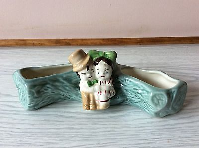 Vintage Planter / Trough with Asian Courting Couple