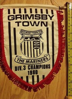Rare English Grimsby Town fc Div 3 champions 1980 football pennant england