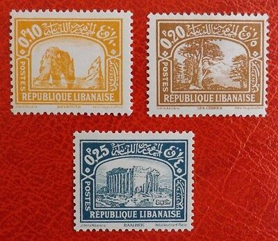 Lebanon, 1930-1931 mounted mint stamps x 3