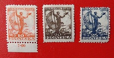1919 Yugoslavia, mounted mint stamps x 3 Lot B