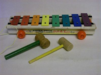 Vintage fisher price xylophone ~ Pull a tune