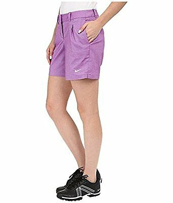 Nike Golf 725763 Women's sz 2 $75 Dri-fit Oxford Shorts Training Tennis PURPLE