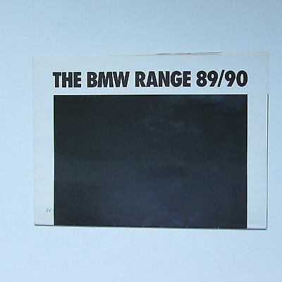 BMW Range Brochure (1989/90) including M3, M5 and Z1