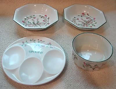 Johnson Bros Eternal Beau 1 small Suofle + 2 small dishes 1 melamine spoon rest