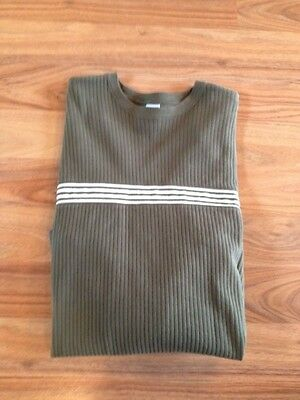 OLD NAVY Classic Fit Mens Crew-Neck Army Green LongSleeve CasualCareer Shirt XL