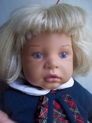 """20 """" mgm ZAPF CREATIONS blond german BABY DOLL germany"""