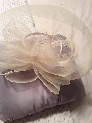 Cream Fascinator Hat