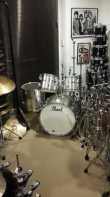 PEARL Fibreglass__Vintage DRUMS Shell pack_C1975/6___PRICE DROP__._Best cond