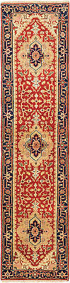 """Hand-knotted  Carpet 2'6"""" x 10'2"""" Serapi Heritage Traditional  Wool Rug"""