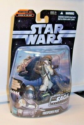 Star Wars Saga Collection Firespeeder Pilot W/ Hologram Rebel Trooper Figure Moc