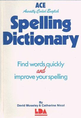 A. C. E. Spelling Dictionary, Catherine Nicol Paperback Book The Cheap Fast Free