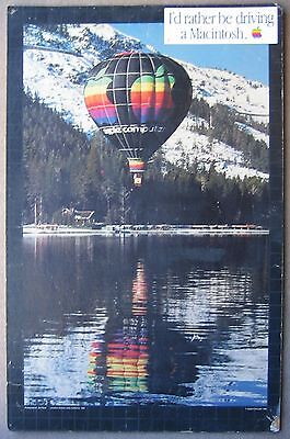 Iconic Vintage Apple Computer Hot Air Balloon Poster + Macromedia Asia '97