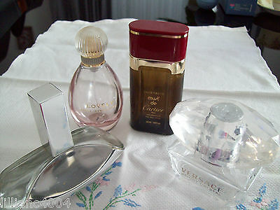 Perfume Bottles X 4 Empty Collectable