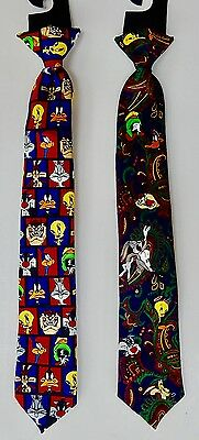"Boys  Clip-on  Neck Ties  -  14"" -  Looney  Tunes -2  New"