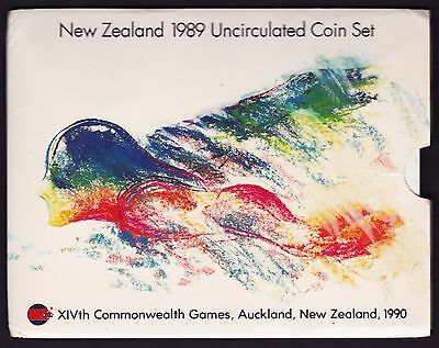 1989 New Zealand Five Coin Mint Set