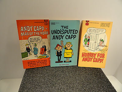 Andy Capp Paperback Books lot of three