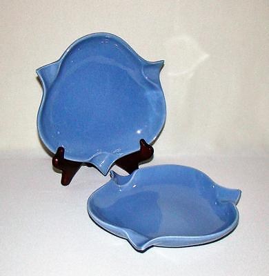 Pair Matching Rookwood American Art Pottery Blue Ashtrays - Exc