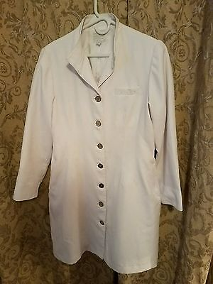 Clinique Cosmetic Counter Employee Lab Coat Uniform Logo Collectible size 12