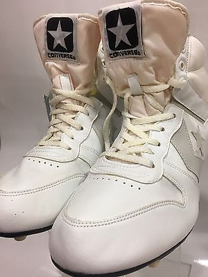 Mens Vintage  80's Converse White  Athletic Football  Cleats Sneaker Shoes 11