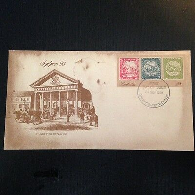 Sydpex 1980, First Day Cover, Australia, FDC, Brisbane stamp