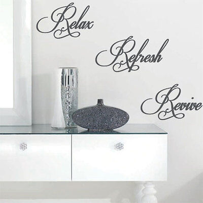 Relax Refresh Revive Wall Quote Art Stickers Wall Decals 32