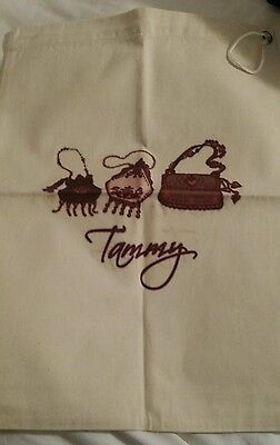 "Personalized Dust Bag Purse or Shoe Drawstring  Bag Cover ""Tammy"" New Gift"