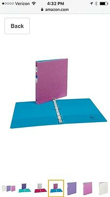 "Avery Glitter Binder with 1"" Round Ring, 175-Sheet Capacity, Pink"