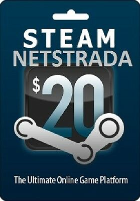 Steam $20 Usd Card Wallet Valve Netstrada Delivery From Usa To Worldwide
