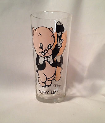 Porky Pig Glass Looney Tunes Warner Brothers 1973 Gift Idea