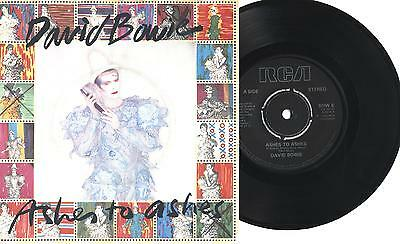 """DAVID BOWIE - Ashes to ashes - Move on - 7"""" 45gg UK EX 1980"""