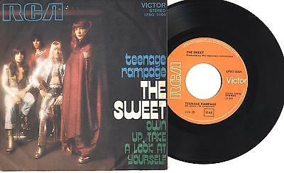 "THE SWEET - Teenage rampage - 7"" 45gg ITA EX 1974"