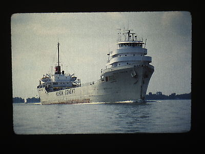 Great Lakes ship Paul H. Townsend outbound Saginaw Bay original 35mm slide