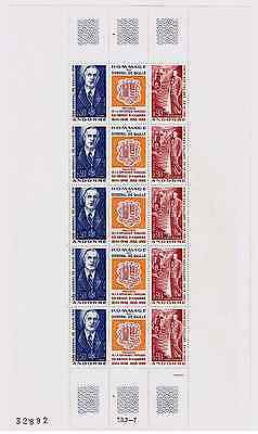 TIMBRES ANDORRE 1972 Feuille Ch de Gaulle n°225A NEUF** SUPERBE