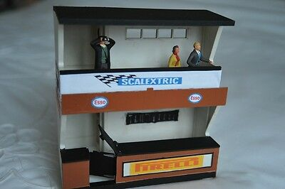 Scalextric Vintage Owners Stand and Pit with Spectators K702 EXCELLENT