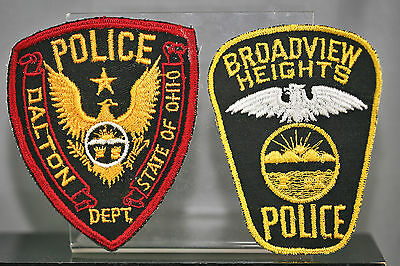 Obsolete Ohio Broadview Heights & Dalton Police Shoulder Patches