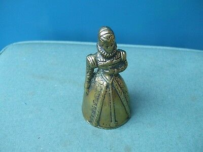 Brass Bell In Form Of Victorian Lady