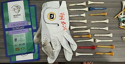 Signed Golf Glove with Tees