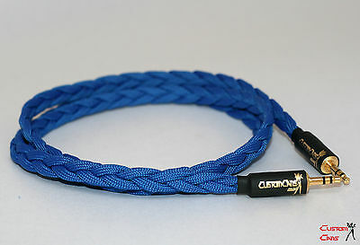 Custom Cans low capacitance 1.5m braided Litz  3.5mm jack to jack cable