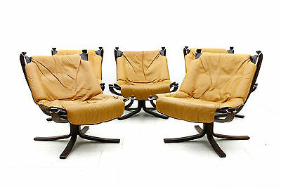 """Sigurd Resell """"Falcon"""" Lounge Chair for Vatne Mobler, Norway, 1971 Leather"""