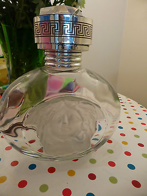 Huge  RARE Glass Versace Blonde Factice Display Glass perfume bottle MUST SEE!!!