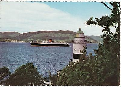 Shipping Postcard SS Carinthia Cloch Lighthouse Firth of Clyde Ocean Liner Ship