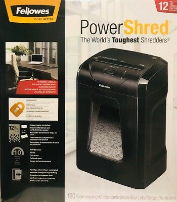 Fellowes Powershred® 75Cs Cross-Cut Shredder / 12-Sheet /CD's / Credit Card/