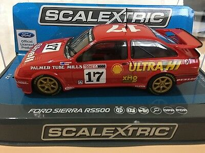 C3740 SCALEXTRIC FORD SIERRA RS500 #17  DICK JOHNSON & JOHN BOWE 1:32 scale