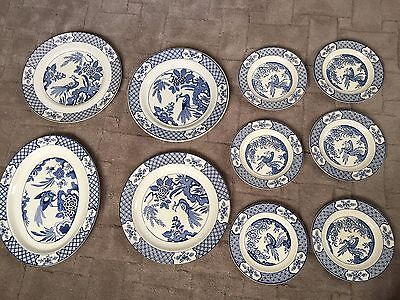 Wood and Sons selection of blue plates YUAN 656368