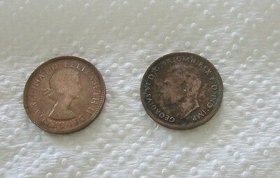 TWO Australian halfpennies. 1943 & 1962