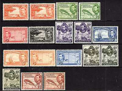 Cayman Islands 1938-48 collection with perf explanation Cat £54