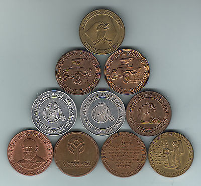 Australia. 1980s Armstrongs Shoe Mart -Tokens. 10 pces - all different. gEF-UNC
