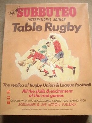 Subbuteo Rugby Edition Wigan v Halifax Complete 2 cloth pitches (no rules)