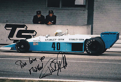 TEDDY PILETTE in F1 car, handsigned photo