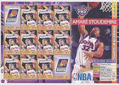 Dominica - Basketball NBA, Amare Stoudemire, Phx Suns, 2006 - Sc 2568 S/H MNH